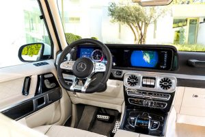 interior of the Mercedes g class